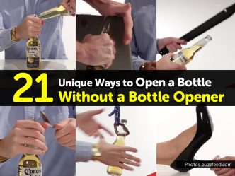 Hacks To Open A Bottle Without A Bottle Opener