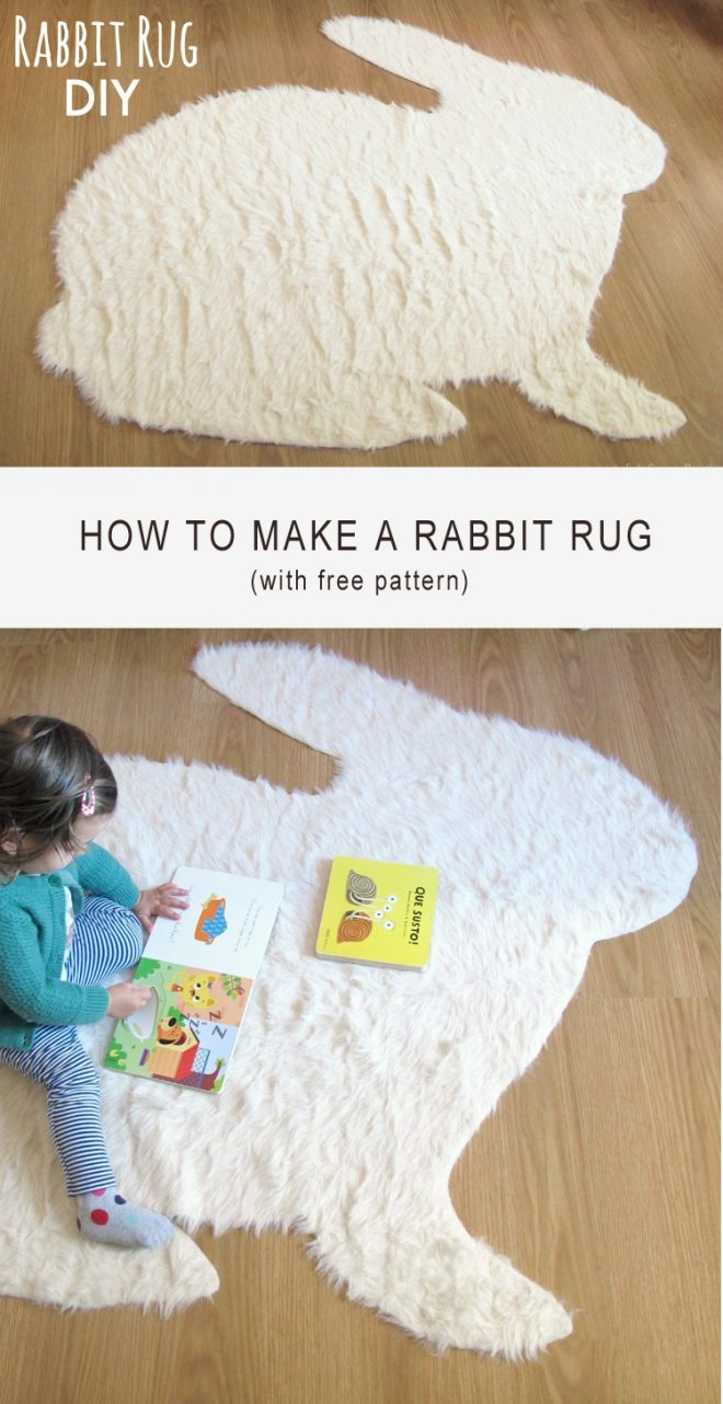 How To Make A No-Sew Rabbit Rug 1