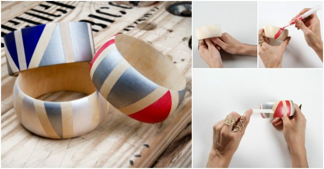How To Make Geo Painted Wooden Bangles