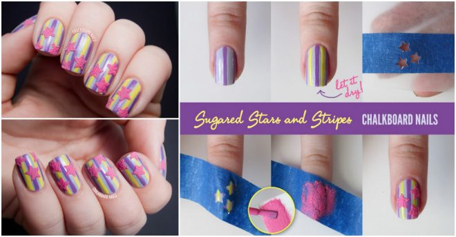 How To Make Sugared Stars And Stripes Nail Art