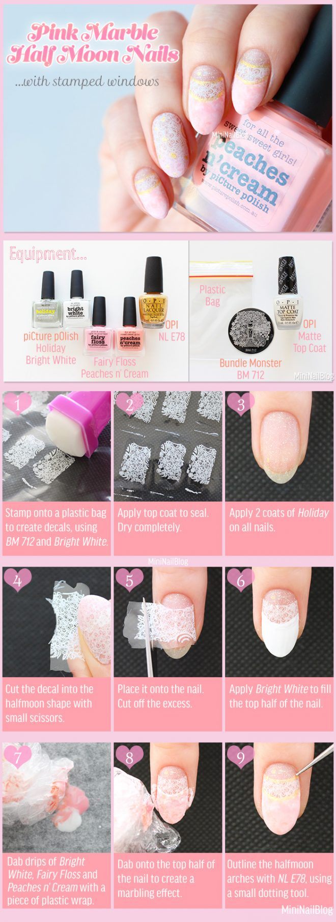Pink-Marble-Half-Moon-Nails-Tutorial