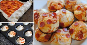 stuffed pizza cupcakes