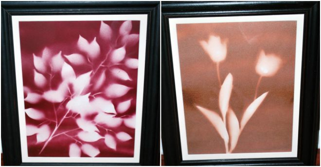 Flower Spray Paint Art
