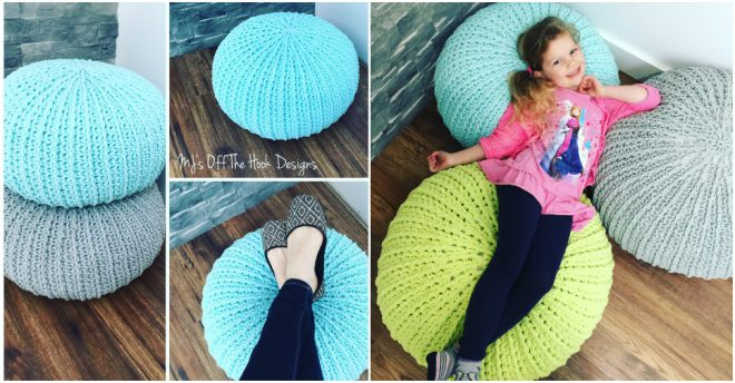 Free Crochet Floor Pouf Tutorial