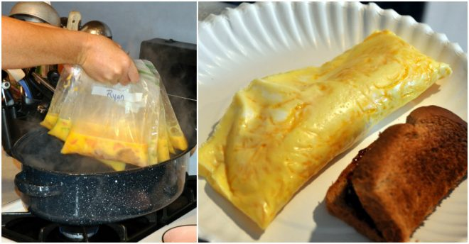 How To Cook Camping Omelettes In A Bag