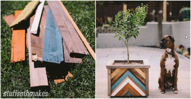 How To Make A Planter Box With Recycled Wood