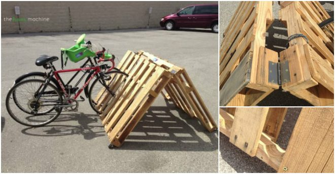 How To Make A Portable Pallet Bike Rack