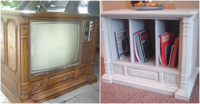 How To Turn An Old TV Into A Living Room Hutch
