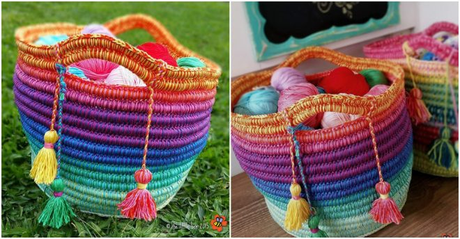 Ropey Rainbow Basket