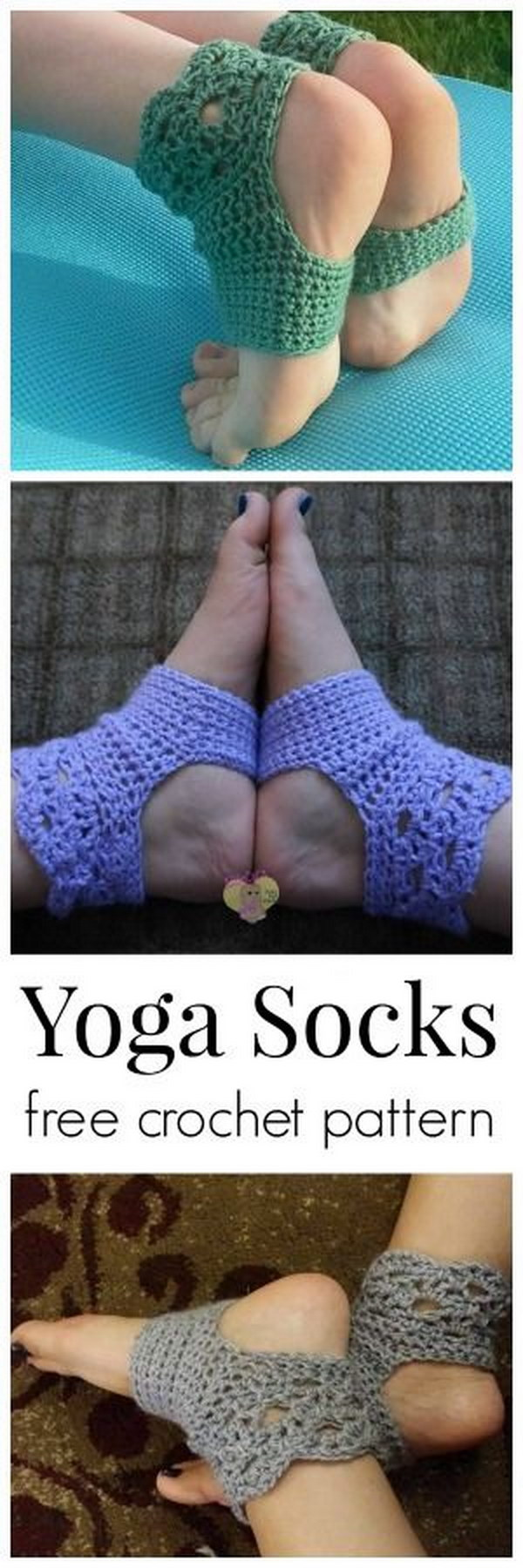Crochet Pattern Yoga Socks : Yoga Socks Free Crochet Pattern How To Instructions