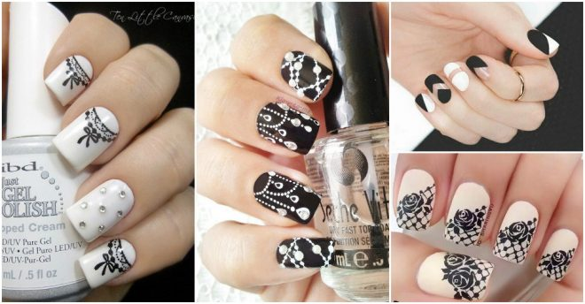 Beautiful Black And White Nail Designs 1
