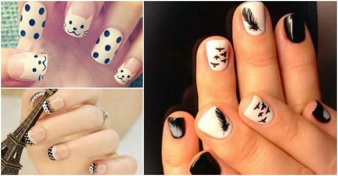 Beautiful Black And White Nail Designs 2