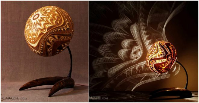 Exotic Gourd Lamps By Calabarte How To Instructions