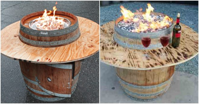 How To Build A Wine Barrel Fire Pit Table 1