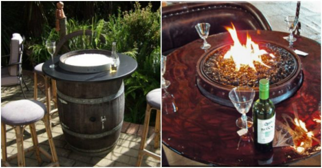 How To Build A Wine Barrel Fire Pit Table 2