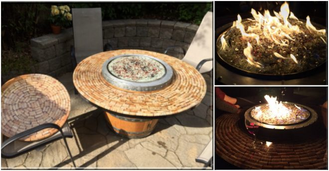 How To Build A Wine Barrel Fire Pit Table 3