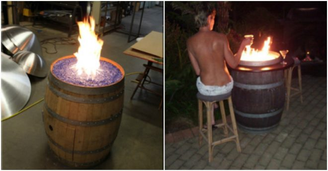 How To Build A Wine Barrel Fire Pit Table 4