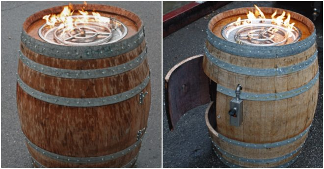 How To Build A Wine Barrel Fire Pit Table