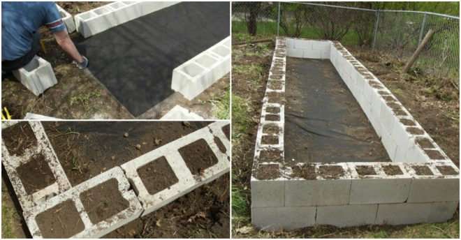 How To Build DIY Raised Garden Beds With Cinder Blocks