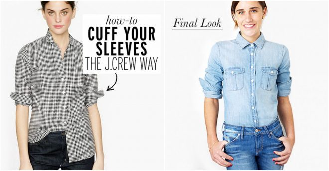 How To Cuff Your Sleeves The J.Crew Way