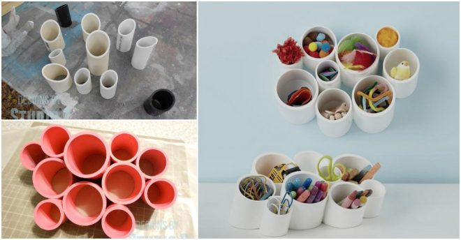 How To Make A Desk Organizer Using PVC Pipes