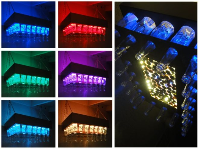 How To Make Beer Bottle LED Light Chandelier 1