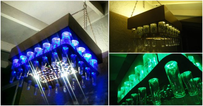 How To Make Beer Bottle LED Light Chandelier