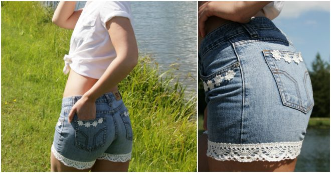 How To Make Cutoff Denim Shorts 1