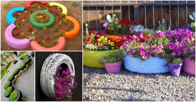 How To Make Recycled Tire Planters