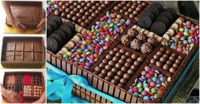 Cake Decoration - Chocolate Box Cake