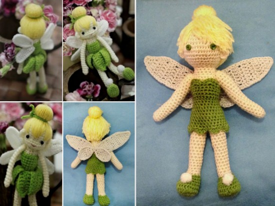 Crochet Adorable Tinkerbell Doll