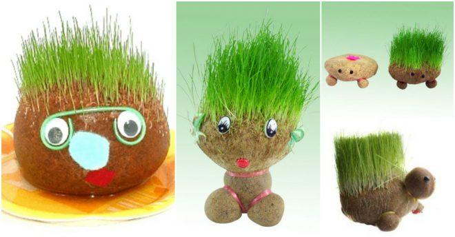 DIY Hedgehog Sock Planters