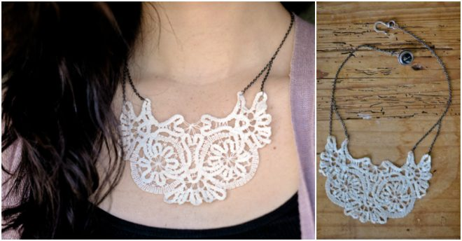 How To Make A Doily Necklace
