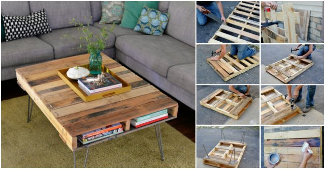 How to make a pallet coffee table how to instructions for Instructions on how to build a table