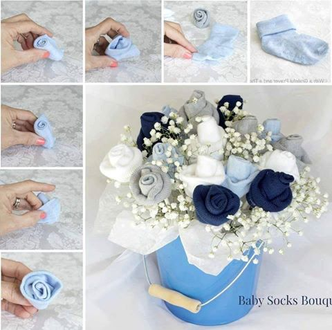 How To Make Baby Socks Flower Bouquet 1