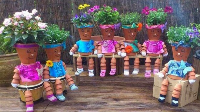 How To Make Flower Pot People 1