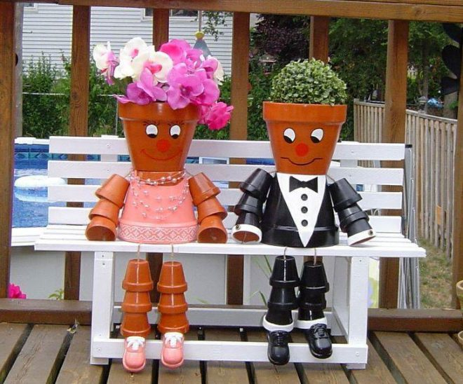 How To Make Flower Pot People 2