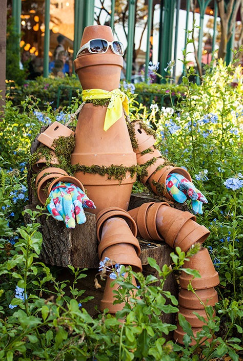 How to make flower pot people how to instructions for How to make clay pot people