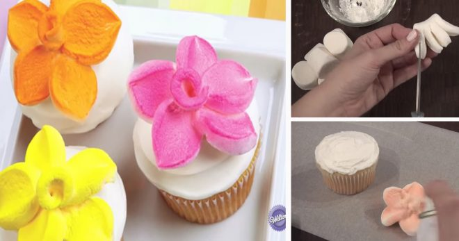 How To Make Marshmallow Flower Cupcake Topper