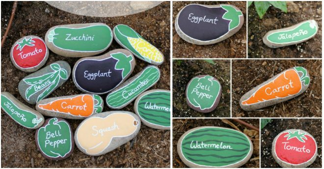 How To Make River Rock Garden Markers How To Instructions