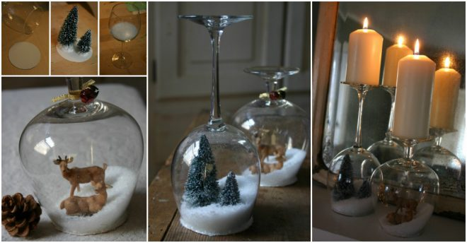 How To Make Wine Glass Snow Globes 1