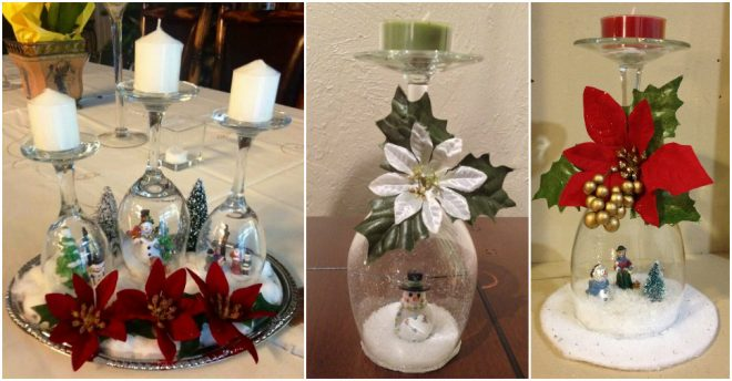 How To Make Wine Glass Snow Globes