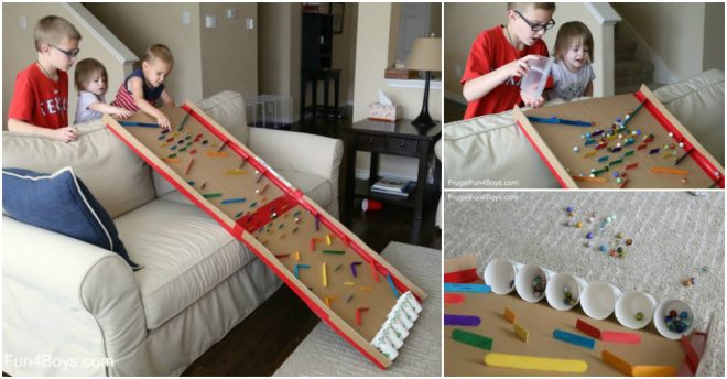 How To Turn A Cardboard Box Into An Epic Marble Run