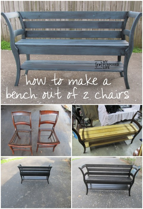 How To Turn Two Chairs Into A Bench 1