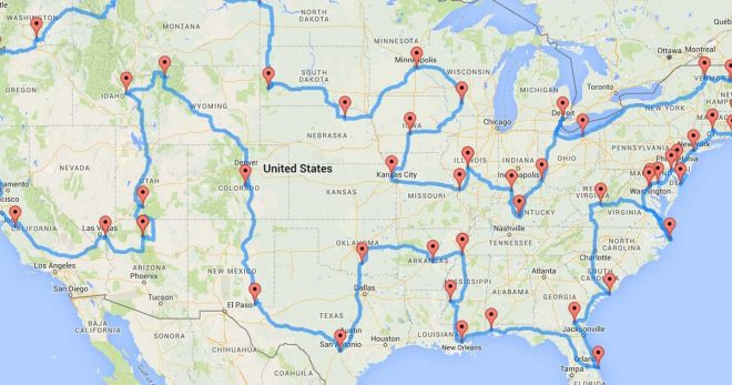 Optimal Road Trip Across The U.S.