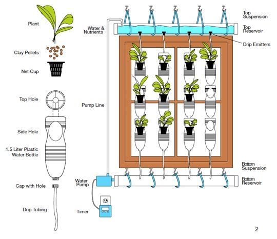 Plastic Bottle Vertical Garden Ideas
