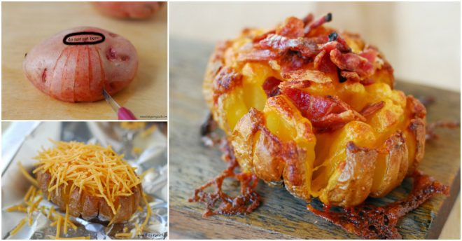 Blooming Baked Potato Recipe