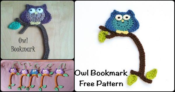 Crochet Owl Bookmark Free Pattern