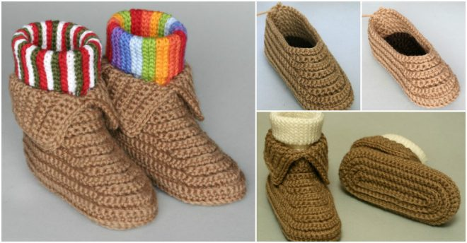 crocheted-soccasins-free-crochet-pattern