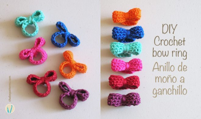 DIY Crochet Bow Ring Pattern & Video Tutorial